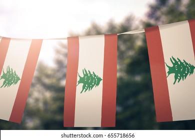 Lebanon flag pennants