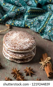Lebkuchen are spicy Christmas cookies of Nuremberg - Germany.