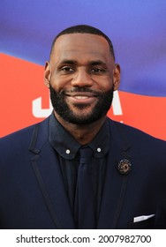 LeBron James at the Los Angeles premiere of 'Space Jam: A New Legacy' held at the Regal LA Live in Los Angeles on July 12, 2021.