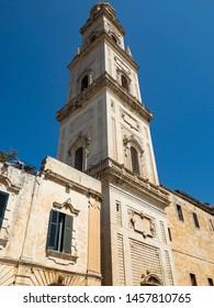 Lecce Cathedral, Piazza del Duomo, Campanile, Lecce, Apulia, Italy, June 2019