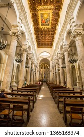 Lecce,Puglia,Italy 18 June 2015:Baroque architecture in Basilica di Santa Croce, Lecce, Ital