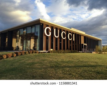 Leccio, Reggello, Italy - January 25, 2015: The Outlet The Mall Florence is the destination for those who love fashion, beauty and style. Inaugurated in 2015 and every year is visited by many tourists