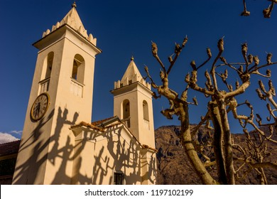 Lecco, Italy-April 1, 2018: Chapel in the famous Villa del Balbianello at Lecco, Lombardy