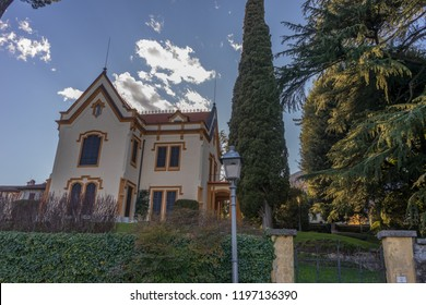 Lecco, Italy-April 1, 2018: The famous Villa at Lecco, Lombardy
