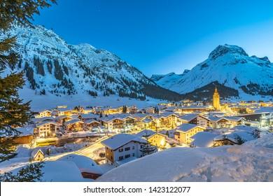 Lech in Arlberg, einer der beliebtesten Urlaubsregionen der Welt.