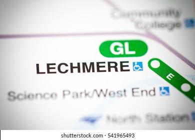 Lechmere Station. Boston Metro map.