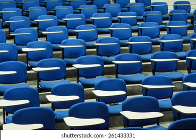 Lecture chairs in a class room