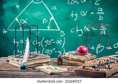 Lecture of trigonometry in school