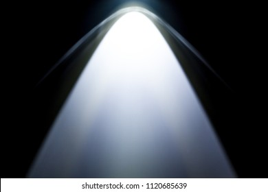 LED black flashlight for background. abstract spotlight on white texture. picture backdrop for add showcase premium product or add text message.