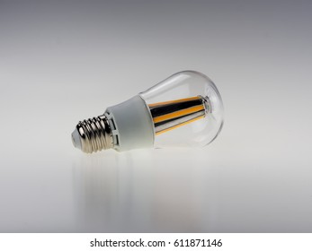 Led bulb on white background