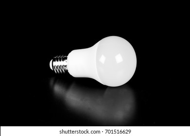 LED bulbs on black background