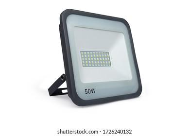 LED flood light isolated on white