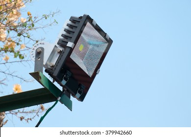 LED flood light, spot light on the top of the roof