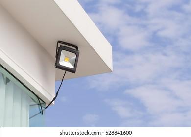 LED flood light, spot light on the top of the roof