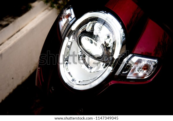 Led headlights, a new modern technology systems.