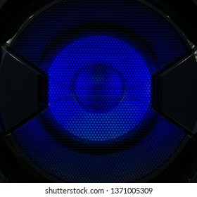 Led illuminated big subwoofer