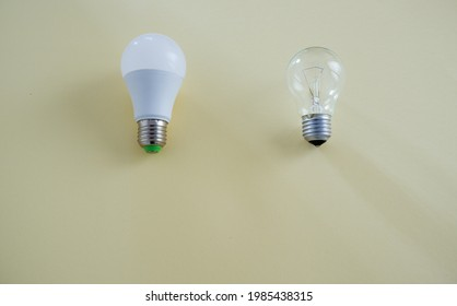 LED lamp instead of incandescent lamp. Incandescent lamp or static LED? Energy Saving.