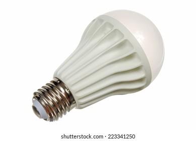 Led lamp isolated on the white background