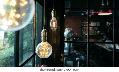 Led lamp lighting hanging  decorate in modern cafe