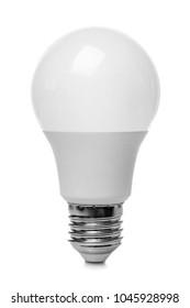 LED lamp on white background