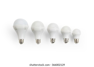 LED lamp on a white background