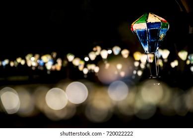 led light bokeh background