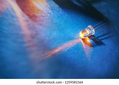 led light bulb, concept of energy saving.