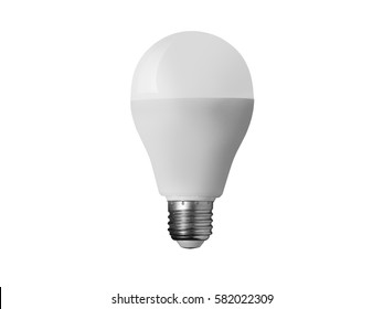 LED light bulb on white background.
