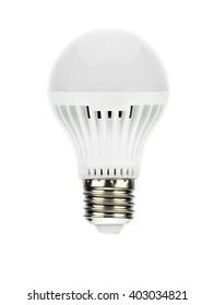 led light bulb in white isolate background