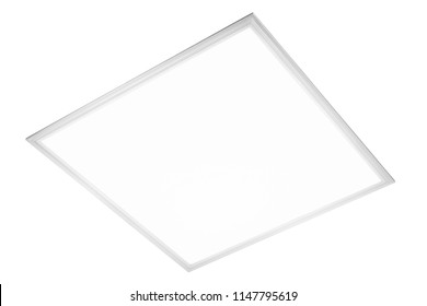 LED light ceiling plafond isolated on white background