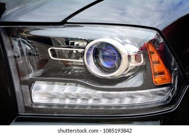 Led light of a luxury car.