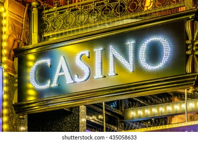LED lighting casino sign