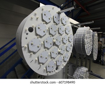 LED lights in manufacturing assembly