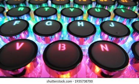 LED Mechanical Keyboard colorful lights - Shutterstock ID 1935738700
