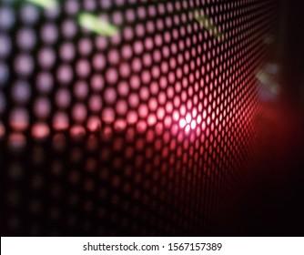 LED panel close-up flare backdrop