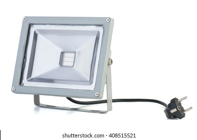 LED plant growing floodlight isolated on white background