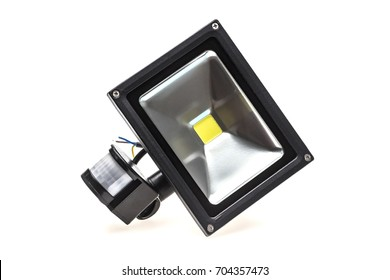 Led Projector Bulb ( Projector led lamp ) LED lamp; projector; Led flood light on white background.