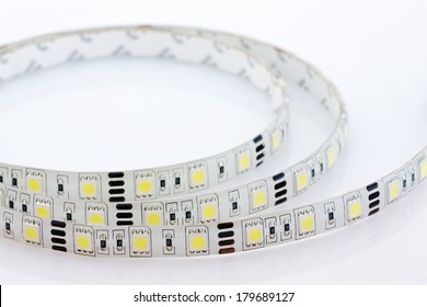 LED strip, coated with silicone, closeup