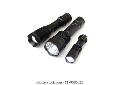 LED torch isolated / Flashlight for camping
