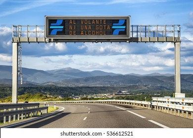 LED Traffic Road Signs. Spain.