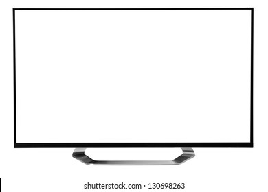 Led Tv. against white background.