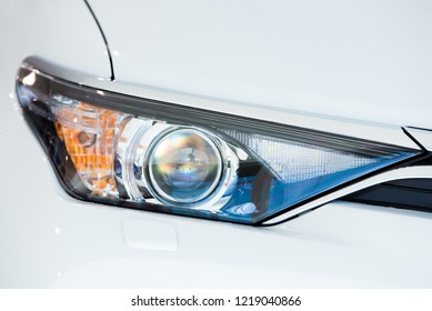 LED Xenon front light of a modern vehicle