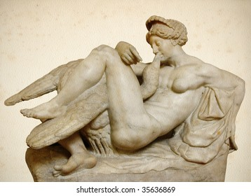 """""""Leda and the Swan"""" by Bartolomeo Amannatti from the Bargello Palace in Florence"""