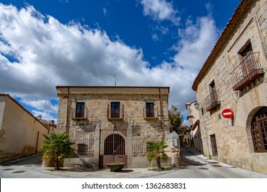 Ledesma, Salamanca, Spain; April 2017: Streets and buildings of the medieval village of Ledesma in province of Salamanca