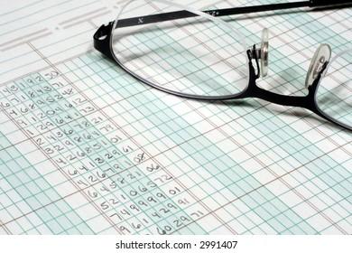 Ledger Paper & Glasses