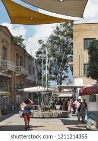 The Ledra Street border passport checkpoint and civil rights monument in Nicosia, North Cyprus, September 2018.