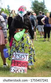 Ledyard, CT - June 13 2020: Black Lives Matter protest.