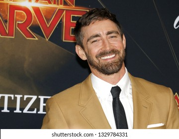 Lee Pace at the World premiere of 'Captain Marvel' held at the El Capitan Theater in Hollywood, USA on March 4, 2019.