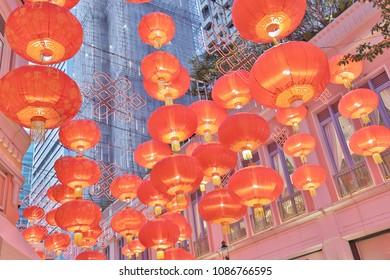 the Lee Tung Avenue at wan chai