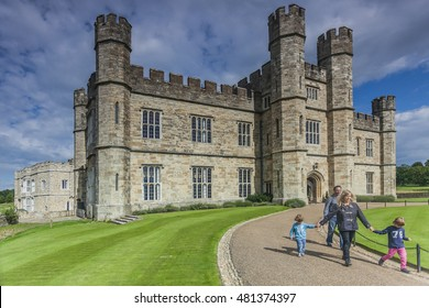LEEDS CASTLE, KENT, ENGLAND-2nd SEPT 2015:-Leeds castle is situated in Kent, South East England, a perfect backdrop for a family day out.